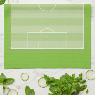 Football pitch tea towel