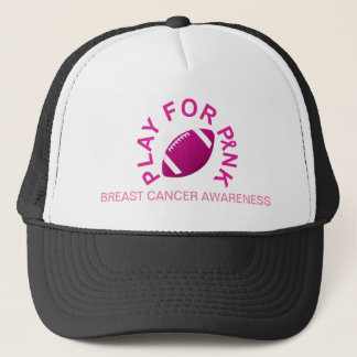 Football Play for Breast Cancer Awareness Hat