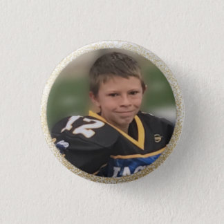 Football Player Add Own Photo 3 Cm Round Badge