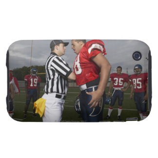Football Player Arguing with Referee iPhone 3 Tough Case