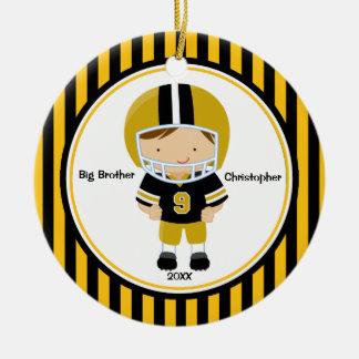 Football Player Big Brother Christmas Ornament