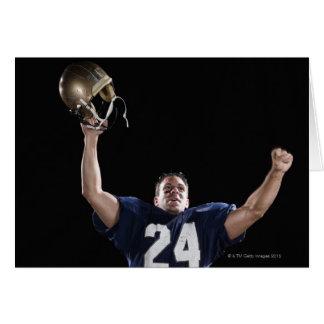 Football player celebrating card
