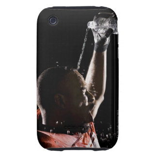 Football player cooling off with water iPhone 3 tough covers