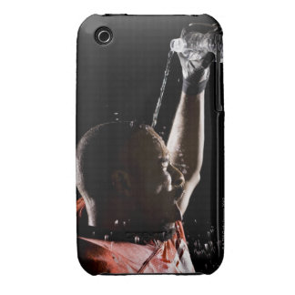 Football player cooling off with water Case-Mate iPhone 3 cases