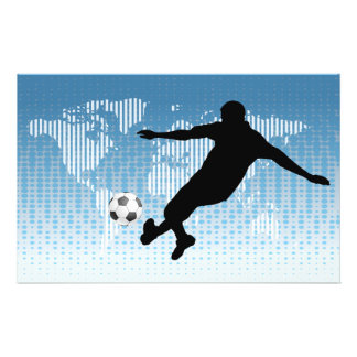 FOOTBALL PLAYER 14 CM X 21.5 CM FLYER