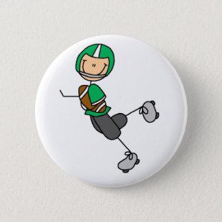 Football Player Green Button