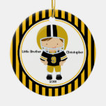 Football Player Little Brother Christmas Ornament