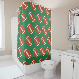 Football Player or Coach Football Pattern Bathroom Shower Curtain