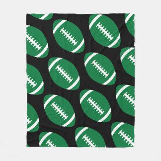 Football Player or Fan Big Green Footballs Blanket