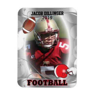 Football Player Photo Template Designs Magnet