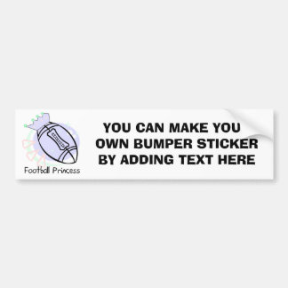 Football Princess T-shirts and Gifts Bumper Sticker