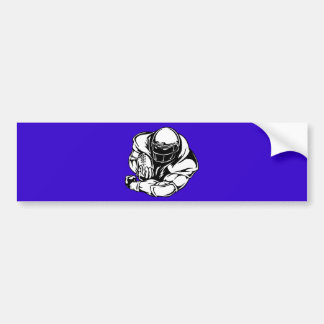 FOOTBALL QUARTERBACK LINEBACKER SPORTS ATHLETIC BUMPER STICKERS