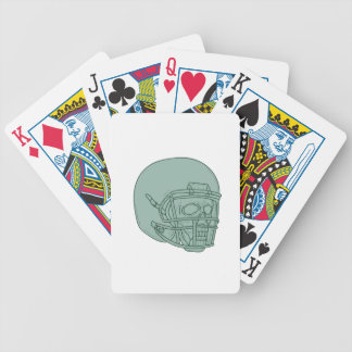 Football Quarterback Skull Drawing Bicycle Playing Cards