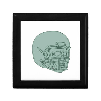 Football Quarterback Skull Drawing Gift Box