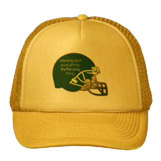 Football Quote in Green: Winning Is the Only Thing Cap