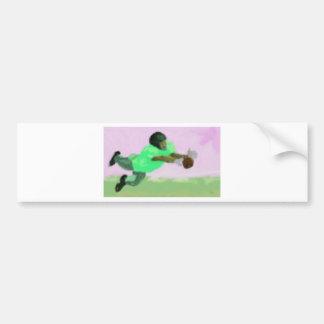 Football Reach Art Bumper Sticker