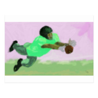 Football Reach Art Postcard