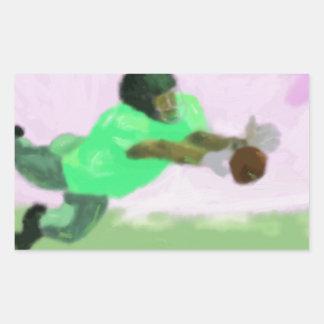Football Reach Art Rectangular Sticker