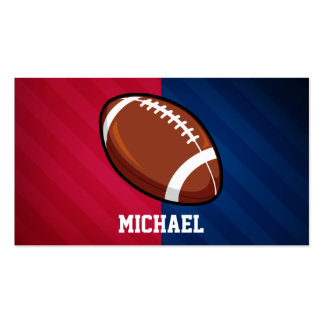 Football; Red, White, and Blue Double-Sided Standard Business Cards (Pack Of 100)