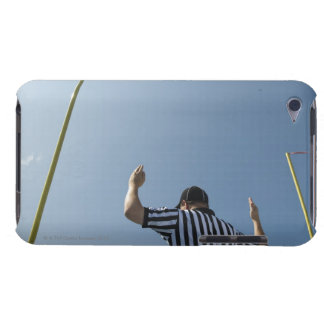 Football referee calling field goal barely there iPod cover