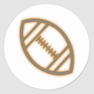 football rugby classic round sticker