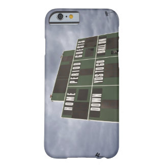 Football scoreboard and storm clouds. barely there iPhone 6 case