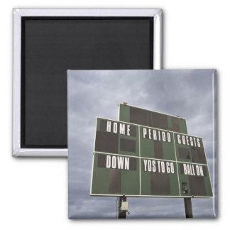 Football scoreboard and storm clouds. fridge magnet