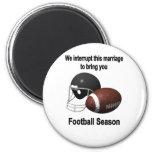 Football season 6 cm round magnet