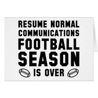 Football Season Is Over Card