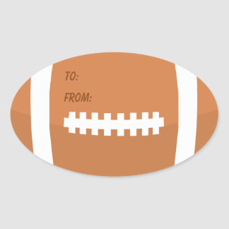 Football Shaped Boys Birthday To From Oval Sticker