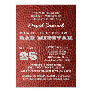 Football Silver Bar Mitzvah Invitation
