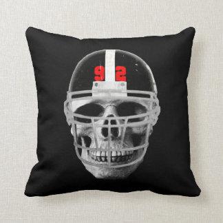 Football skull cushion