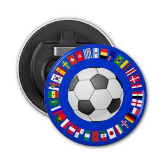 FOOTBALL SOCCER 2018 TEAM FLAGS SYMBOL CIRCLE BOTTLE OPENER