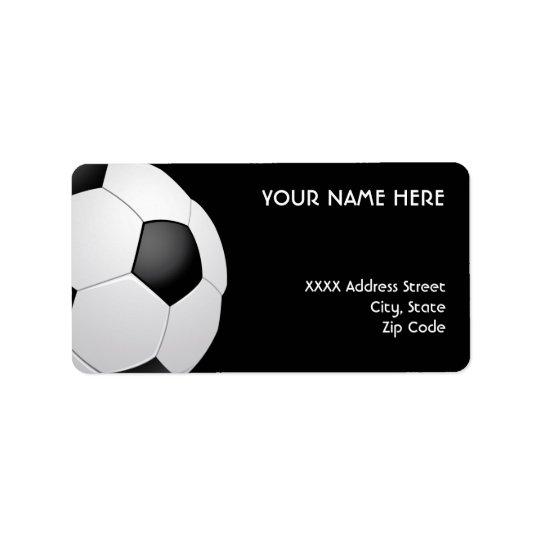 Football Soccer Address Labels