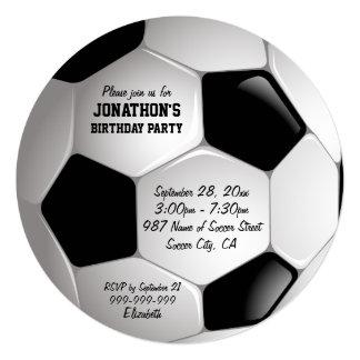 Football Soccer Ball Birthday Party 13 Cm X 13 Cm Square Invitation Card