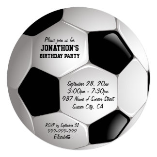 Soccer Birthday Party Invitations Amp Announcements Zazzle