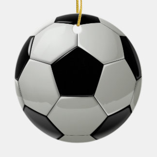 Football Soccer Ball Ceramic Ornament