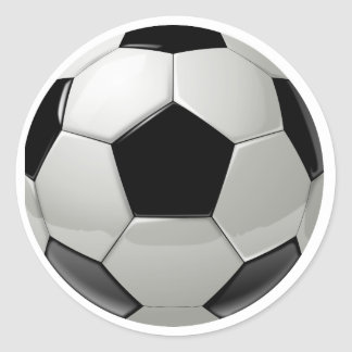 Football Soccer Ball Classic Round Sticker