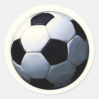 Football - Soccer Ball Classic Round Sticker