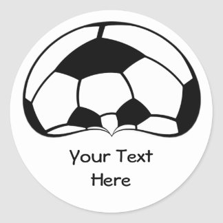 Football Soccer Ball Head with Sunglasses Round Sticker