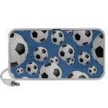 Football Soccer Balls Doodle iPod Speakers