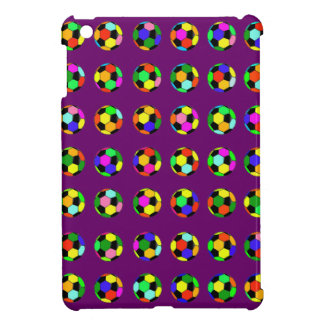 football - soccer balls pattern iPad mini cover