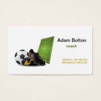 Football , Soccer Coach Business Card Template