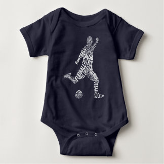 Football Soccer Languages (White) Baby Bodysuit