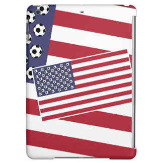 Football Soccer Stars and Stripes Flag