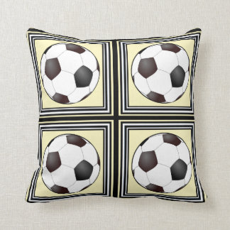 Football (Soccer) Tile Throw Pillows