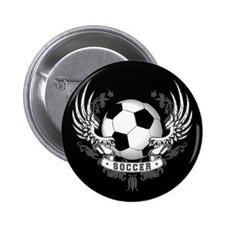 Football Soccer Wings Button