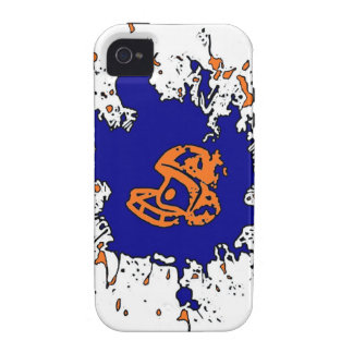 Football splatter orange blue theme iphone case iPhone 4/4S covers