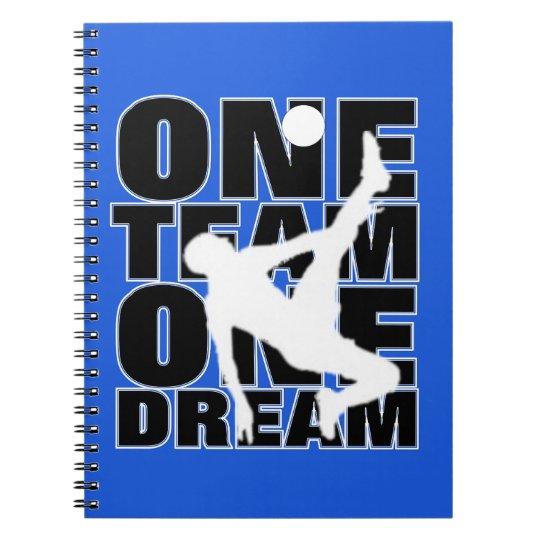 Football Sport Terminology Typography Slogan Text Notebook