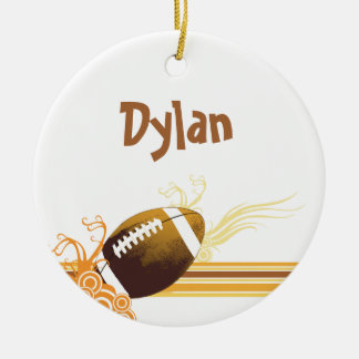 Football Sports Ball Game Personalised Name Ceramic Ornament